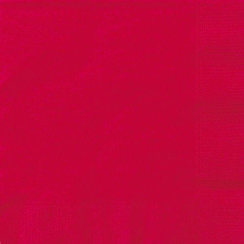 Unique Party -  Servilletas de Papel - 16,5 cm - Rojo - Paquete de 50 (31458)