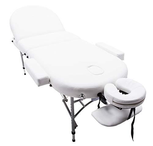 Lettino Per Massaggio Portatile In Alluminio.Massage Imperial Consort Lettino Professionale Per Massaggio Portatile In Alluminio Schiuma Ad Alta Densita 7 Cm Colore Bianco Avorio