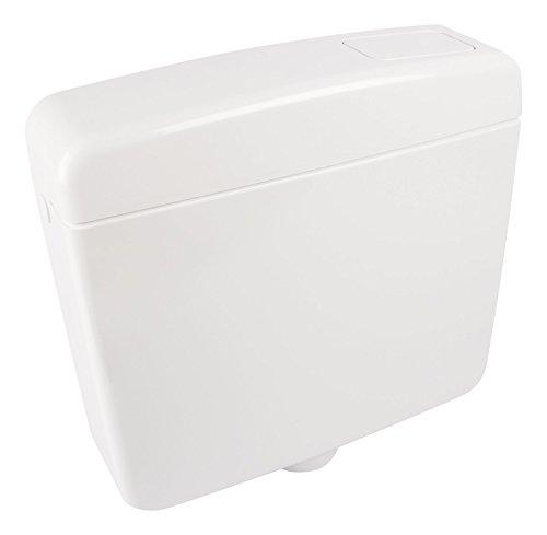 Spülkasten Opal | Kunststoff | Spül-Stopp-Funktion | 6-9 Liter | Tiefspülkasten, Weiß