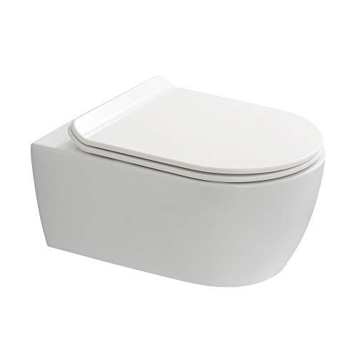 WC Suspendu Sans Bride Saneo Compact