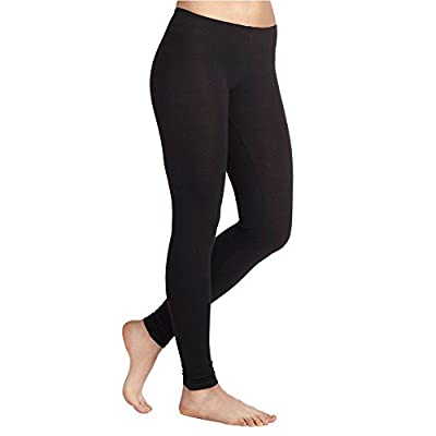 3 Pack Viscose Lycra Plain Black Stretchy Leggings UK Sizes 8 - 26