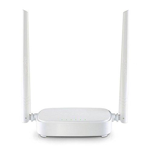 Tenda N301 WLAN Router für Anschluss an Kabel-/DSL- oder Glasfaser-Modem (300Mbit/s über WLAN, 3x LAN-Ports, WPS, für 4K/HD Videostreaming & Online Games, zwei Antennen für stabiles & schnelles WLAN) weiß