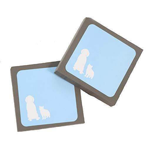 Limeow Tierhaare Reiniger Haustierhaar Reinigungsbürste Hund und Katze Haar Reiniger Entferner Haustierhaar Reinigungsbürste Teppichkissen Sofa oder Autositz blau 2 Stück