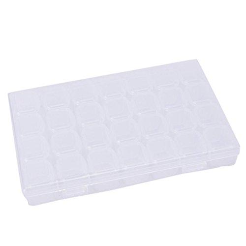 Belleza superior 1set 28Lattice plástico Uñas decoraciones de herramientas caso caja de...