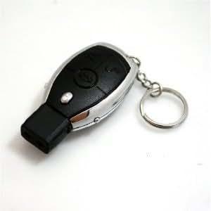 Eléctrochoc sous l'aspect d'une clé de voiture - Avec laser LED et porte clef