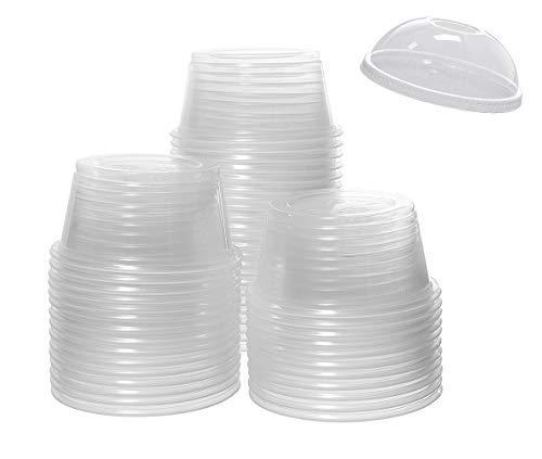 Sohapy 30 Stück transparente Kunststoffbecher Dessert Obst Parfait Tassen Schalen mit Kuppeldeckel Einweg-Servierschüssel für Salate Obst Jello Parfaits Desserts Eis Wasser Sodas Behälter