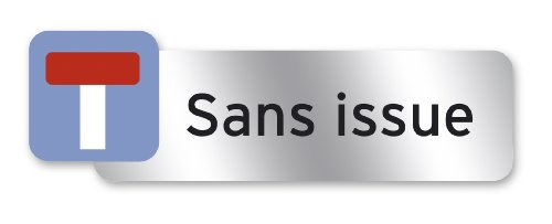 Preisvergleich Produktbild Symbol Farbpatrone Polycarbonat selbstklebend Plaque 160 x 50 mm mit SANS Issue Formulierung [French]