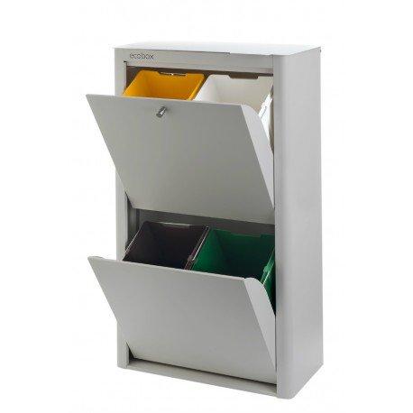 DON HIERRO - Cubo basura reciclar acero lacado color