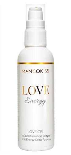 MangoKiss LOVE ENERGY - Essbares Gleitgel mit Energy-Drink Geschmack - Veganes Gleitmittel auf Wasserbasis - kondomgeeignet, für Oralverkehr und Sex