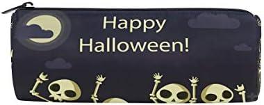 Bonipe Happy Halloween tête de mort Lune Lune Lune Trousse Pochette Sac d'école papeterie Pen Box Zipper Cosmétique Sac de maquillage | Réduction  556740