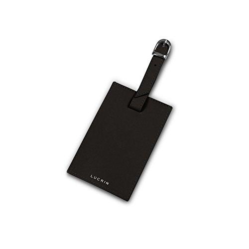 Lucrin - Etichetta per bagagli - Rosso - Pelle Liscia Marrone