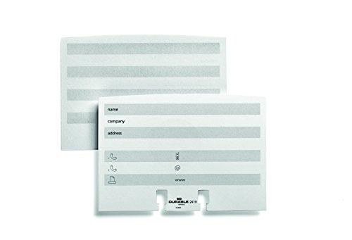 Durable 241902 Karteikarten Nachfüllsatz für Visifix / Telindex Artikel, 100 Stück, weiß