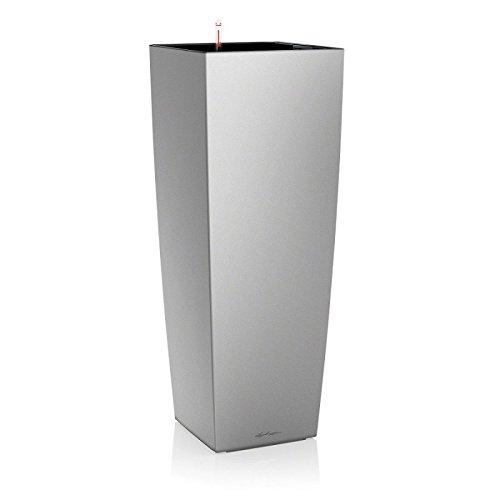 lechuza-18238-maceta-cubico-alto-kit-completo-color-plata-metalizado-40-x-40-x-105