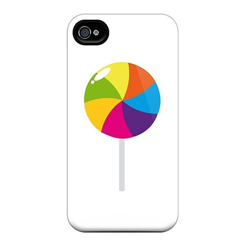 Tpu Purecase Shockproof Scratcheproof Round Lollipop Hard Case Cover For Iphone 4/4s