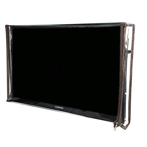 Yellow Weaves PVC 32 Inches LED/LCD Television Cover (Transparent)