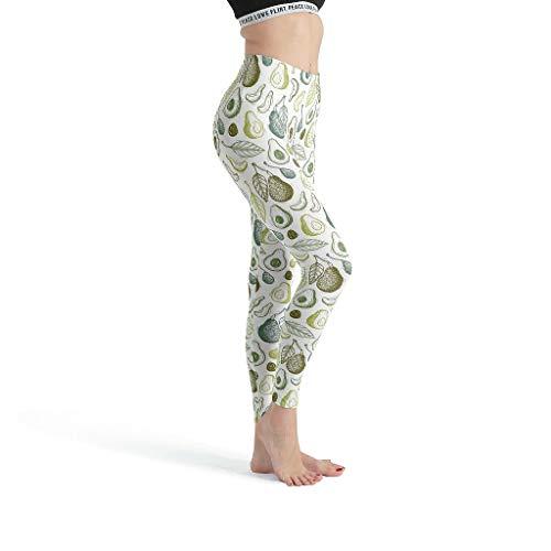 O4EC2-8 Damen Design Leggings 4-Wege-Stretch-Laufhose Leichtes Gewebe Avocado-Linie Hose Für Sport Fitness Thermo Leggings Damen – Frisch und rein