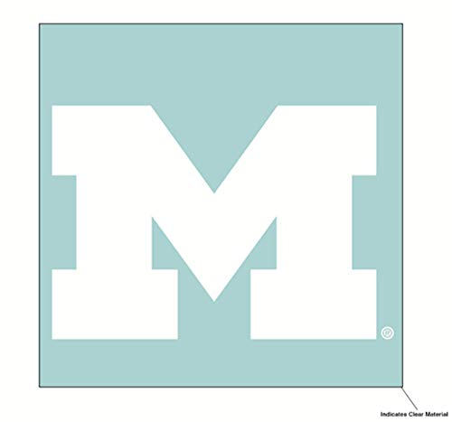 Wincraft NCAA University of Michigan Wolverines 15,2 x 15,2 cm, Weiß -