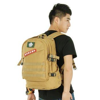 Outdoor-Klettern Tasche Schulter ihre Rucksäcke Fahrrad Taschen wasserdicht Camo taktische militärische Taschen drei Sand Tarnung Commando bekämpfen Rucksack 45L Mud-colored