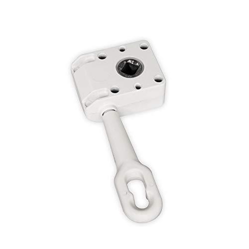 Preisvergleich Produktbild DIWARO.® / Schneckengetriebe für Markisen / Untersetzung 7:1 / 120mm / 13mm Innenvierkant / weiß / Markisengetriebe