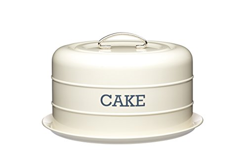 Kitchen Craft living nostalgia airtight domed cake tin;Decorated in vintage cream and with a 'CAKE' lettering design;Elevated platter base with an airtight silicone seal;Colour: Cream;Size: 28.5cm x 18cm