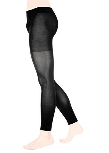 GLAMORY Herren-Leggings Sport Männer Legging Thermoman 100 DEN, Schwarz (Schwarz), Large (Herstellergröße: L-(44-46))
