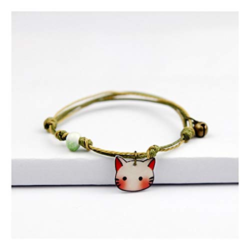 YIYIYYA Ladies'Bracelets Couples' Styles Hand-Made Ceramics Sweet and Lovely Fruit and Vegetable Shapes Girls'Jewelry Ladies' Jewelry Gifts,05 Womens Mixed Metal