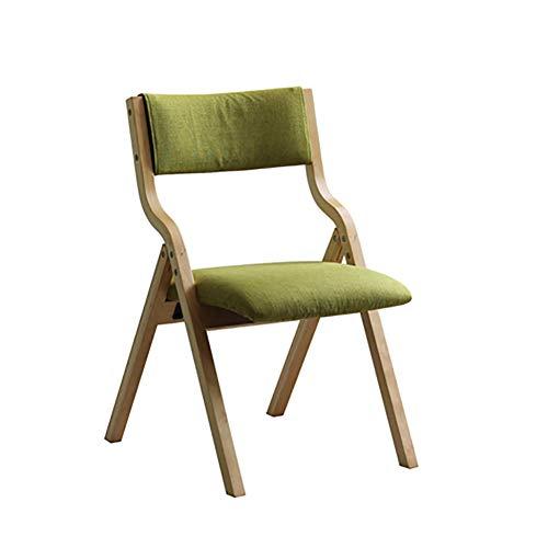 Esszimmerstühle YXX Klappbarer Esstischstuhl, Holzgewebe gepolsterte armlose Rückenstühle für...