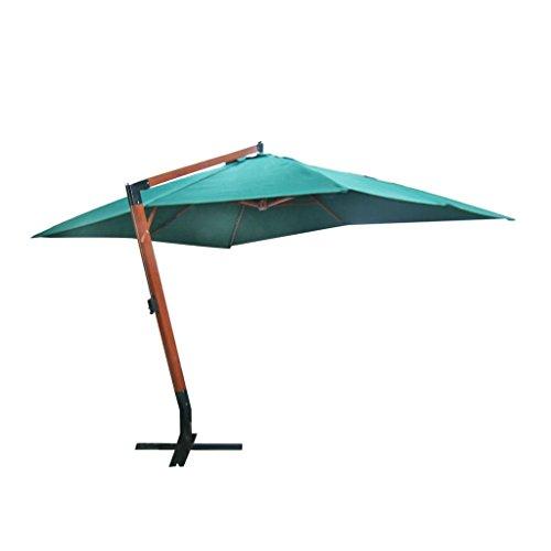 Vidaxl ombrellone in poliestere con braccio laterale e manovella parasole