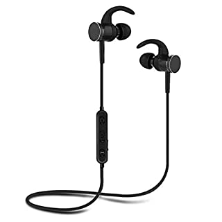 I-Sonite BLACK S98 Wireless 5.0 Bluetooth Headphones Earphones Magnetic In-Ear Earbuds With Built-in Mic and Volume Control and Noise Reduction For Swipe Ace