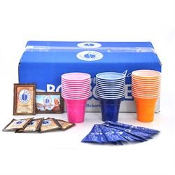 4 Kit accessori caffè Borbone (Ogni kit comprende:100 palette, 100 zucchero, 100 bicchierini)
