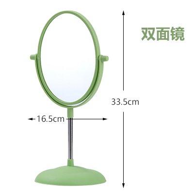 Foto de CWAIXX Espejo sobremesa de albergue casa doble escritorio tocador de princesa espejo provee gran espejo , Óvalo del espejo de pedestal Verde