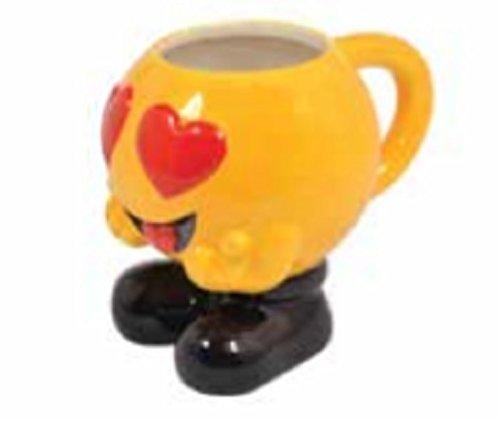 Ceramica Liverpool/tè/bevanda Tazza ~ Emoji/Emoti ~ cuore occhielli