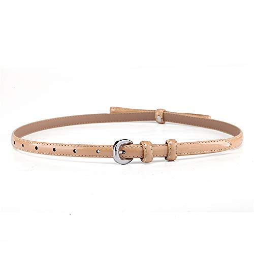 Ying xinguang Gürtel Damen Gürtel Skinny Belt Bow Kette Elastischer Taillenbund Bund (Farbe : Khaki) Bow Skinny Belt