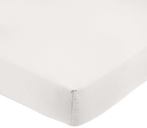 Amazonbasics - lenzuolo in microfibra con angoli, singolo, 90 x 190 x 30 cm,  crema