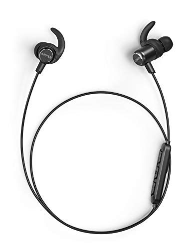 Anker SoundBuds Slim+ Bluetooth Kopfhörer, Upgraded Leichte Stereo Kopfhörer In Ear mit High Resolution HD Sound, Bluetooth 5.0, IPX7 Wasserfeste Sportkopfhörer mit Metallgehäuse und Mikrofon (Base-bluetooth-headset)