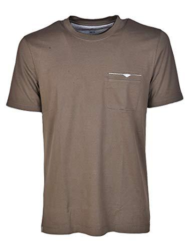 Brunello Cucinelli T-Shirt Uomo M0t617447ci871 Cotone Marrone