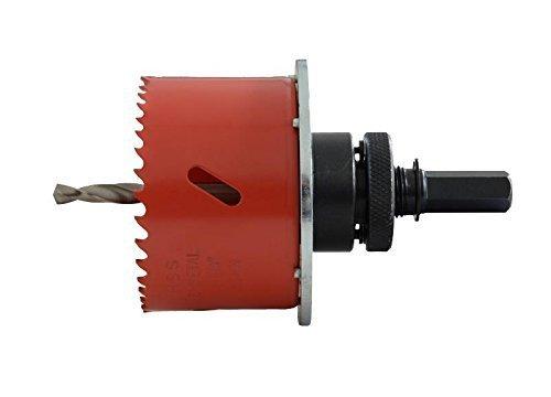 Preisvergleich Produktbild HSS-Bi-Metall Lochsäge mit Lochrandversenker für Hohlwanddosen, Modell:Ø 68