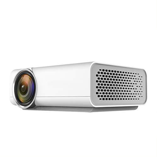 XC 1080P HD sans Fil Projecteur LED, Intégré dans Le Haut-Parleur Home Theater Jeu De Divertissement Extérieur Party, 2 Couleurs Facultatives,White