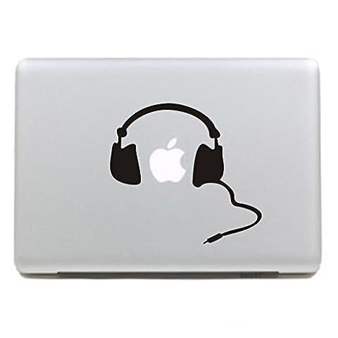 """MacBook Aufkleber, Chickwin Creative Pattern dekorativ Film Notebook Sticker Skin personalisierte Aufkleber MacBook Pro Air 13"""" Decal (Kopfhörer B)"""