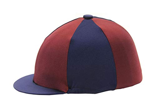 3e885fc4b Save 23% - Hy Navy and Burgundy Riding Hat Silk Cover
