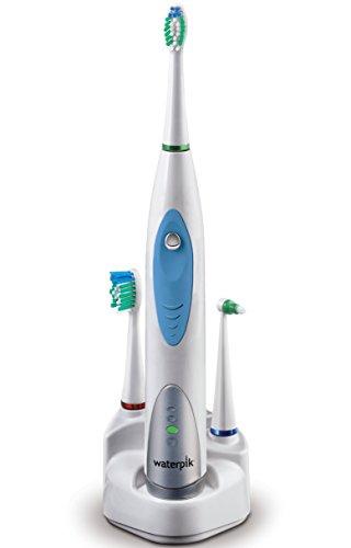 Waterpik Sensonic SR1000 - Cepillo de dientes eléctrico ultrasónico, cabezales intercambiables, color gris