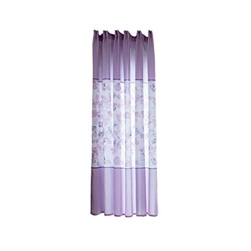 MDenker Gardinen transparent mit Ösen Leinen Optik, Doppelpack Ösenschal Vorhang Stores lichtdurchlässig Fensterschal für Wohnzimmer Kinderzimmer Schlafzimmer, 200X100 cm -