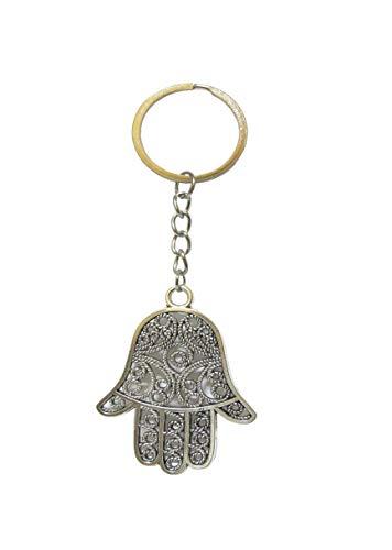 Saharashop Orientalischer Schlüsselanhänger Hand der Fatima - Metall