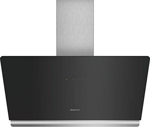 Constructa cd689861 Hotte murale/Inox/Verre/Noir/90 cm/éclairage LED