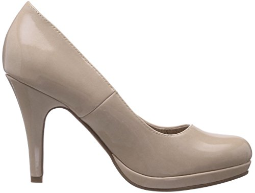 Tamaris  22417, Chaussures à talons - Avant du pieds couvert femme Beige - Beige (Cream Patent 430)