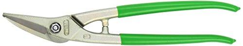 Stubai 270011NRGR Cisaille à Tôle Multiusage Nirolook Droite avec Manches Revêtues de PVC, Vert/argent, 280 mm