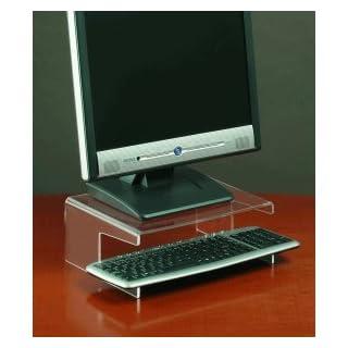 Unbekannt FKV Monitorständer mit Tastaturablage Acryl transparent klar