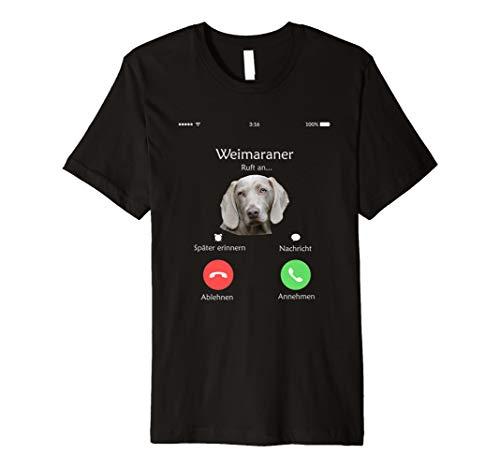 Weimaraner Hund ruft an Tshirt Shirt -