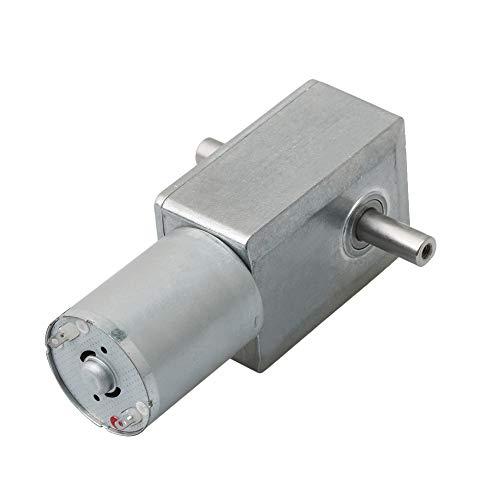 BQLZR Silver Metal Turbinengetriebe Motor Cartesian Getriebe 6 V 10 U/min DC JGY370 Wurm Turbo Electric Speed Reducer Getriebemotor -
