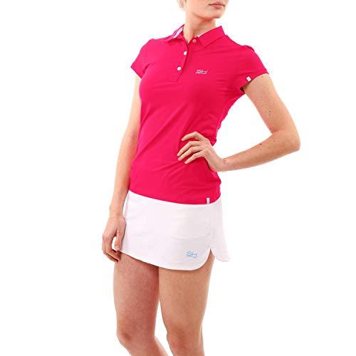 Sportkind Mädchen & Damen Tennis, Golf, Sport Poloshirt, pink, Gr. 134 - Golf Mädchen